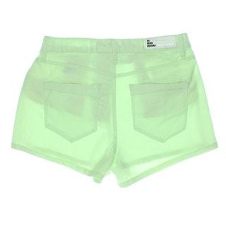 Dollhouse Womens Juniors High Waist Denim Casual Shorts