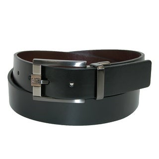 Kenneth Cole Reaction Men's 32mm Reversible Belt with 3 Tone Buckle - black to tan