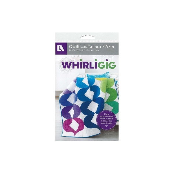 Leisure Arts Whirligig Quilt Ptrn - White. Opens flyout.