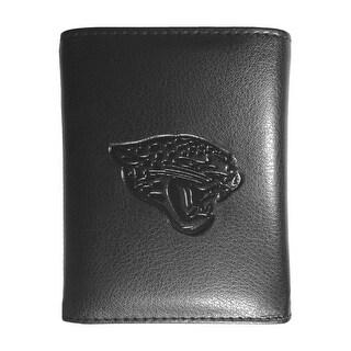 Jacksonville Jaguars NFL Embossed Tri-fold Leather Wallet - Black