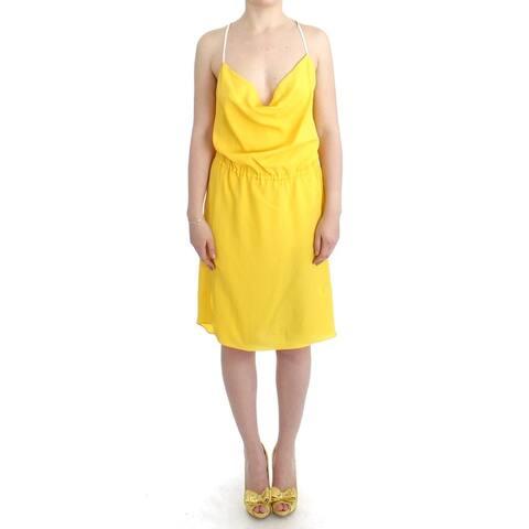 Costume National Yellow sleeveless summer Women's dress - it46-xl