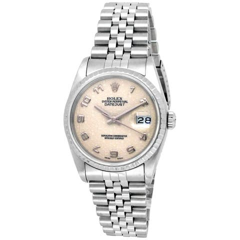 Pre-owned 36mm Rolex Stainless Steel Datejust Watch - 7 inches