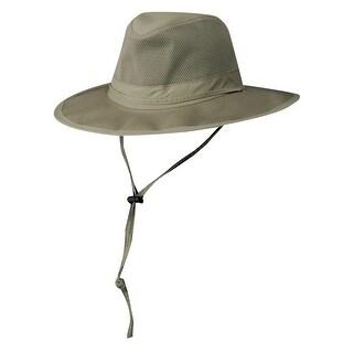 DPC Outdoor Design Ultra Lightweight Mesh Supplex Safari Hat - Khaki