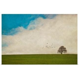 """Lone tree."" Poster Print"