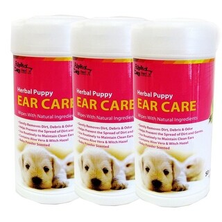 Alpha Dog Series - Ear Care Wipes 50ct (Pack of 3)