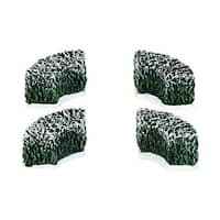"Department 56 Snow Village ""Tudor Gardens Corner Hedge"" Accessory #4038841 - green"