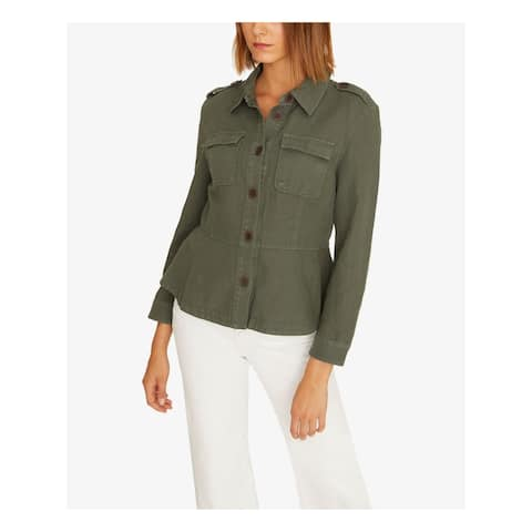 SANCTUARY Womens Green Jacket Size S