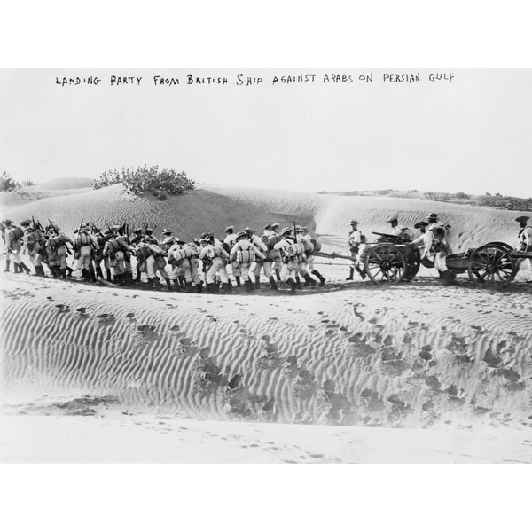 British Troops Pulling Field Gun in Desert Photograph (Art Print - Multiple  Sizes Available) - 9 x 12 Art Print