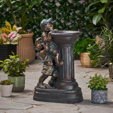Arno Outdoor Children Playing Water Fountain by Christopher Knight Home