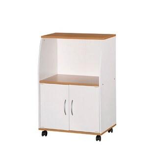 Hodedah HIK74 WHITE Microwave Cart-White