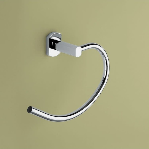 Nameeks ED70 Gedy Wall Mounted Towel Ring - Polished Chrome. Opens flyout.