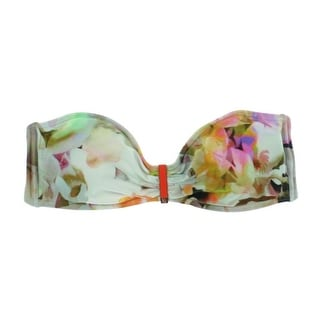 Ted Baker Womens Bryyone Floral Print Bandeau Swim Top Separates