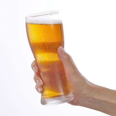 JoyJolt Callen 15.5 oz Beer Glasses Set of 4