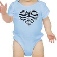 Heart Skeleton Bodysuit Baby Cute Graphic Blue Bodysuit Halloween