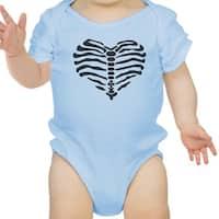 Heart Skeleton Bodysuit Baby Cute Graphic Blue Bodysuit Halloween