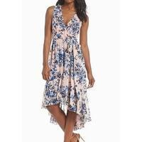 Eliza J Women's Floral Print High Low Sheath Dress