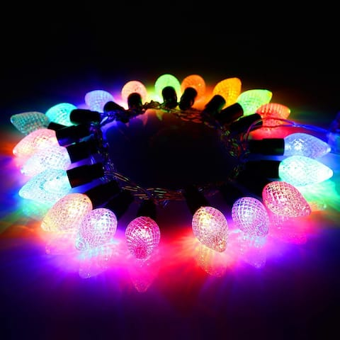 7.05ft 20 LED Strawberry String Lights, Battery Powered, Multi-Color