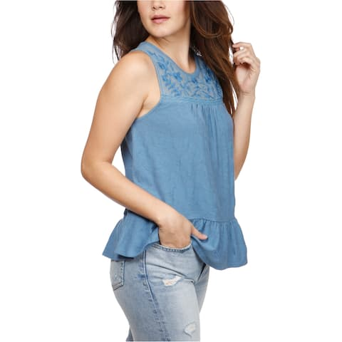 Lucky Brand Womens Tiered Tank Top