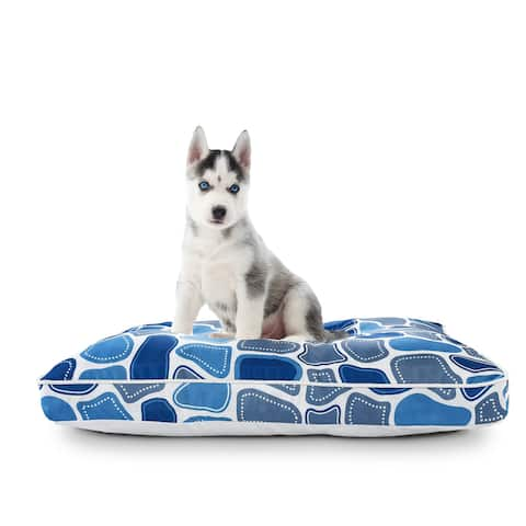 """Riverbed Rock Pillow Dog Bed with Removable Cover - 24"""" x 36"""" x 3"""""""
