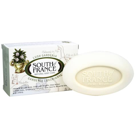 South of France - French Milled Vegetable Bar Soap Lush Gardenia - 6 - 6 oz.