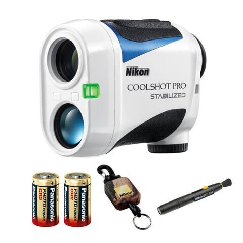 "Nikon 6x21 Coolshot Pro Stabilized Golf Rangefinder w/Batteries Bundle - 3.8"" x 1.7"" x 2.9"""