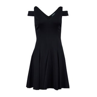 Lauren Ralph Lauren Women's Cutout Shoulder Dress 8P, Black