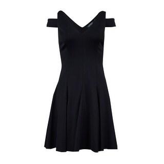 Lauren Ralph Lauren Women's Cutout Shoulder Dress - Black