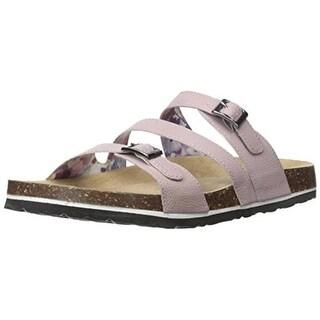 JSport by Jambu Womens Zoe Vegan Leather Cork Slide Sandals - 8 medium (b,m)
