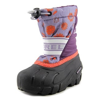Sorel Cub Youth Round Toe Synthetic Gray Snow Boot