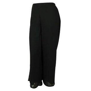 NY Collection Women's Elastic Waist Pants