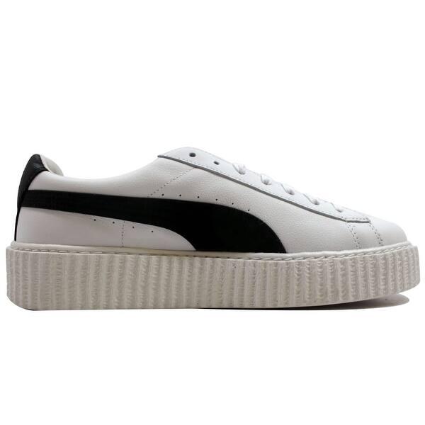 sports shoes d08ae 387e5 Shop Puma Men's Creeper White Leather Puma White/Puma Black ...
