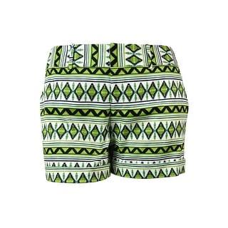 INC International Concepts Women's Printed Cuffed Shorts - 16