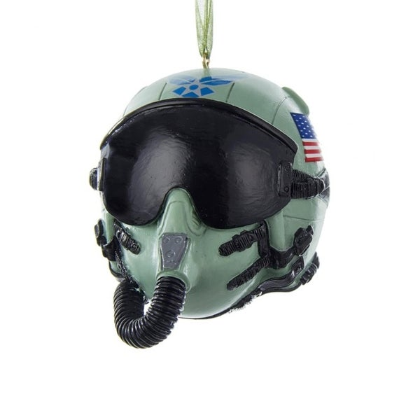 "3.25"" U.S. Air Force Pilot Helmet Decorative Christmas Ornament"
