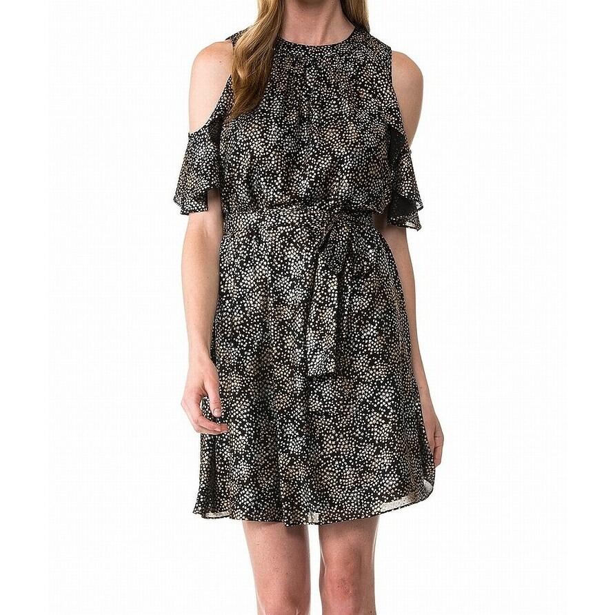 MICHAEL Michael Kors Black Womens Size Large PL Petite A-Line Dress