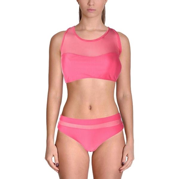 0805b9b9555dd7 Shop Avidlove Womens 2PC Mesh Inset Bikini Swimsuit - L - Free Shipping On  Orders Over $45 - Overstock - 22733872