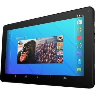 """Ematic Egq223skpr 10"""" Quad-Core Tablet With Android 5.1, Lollipop, Keyboard Folio Case And Headphones"""