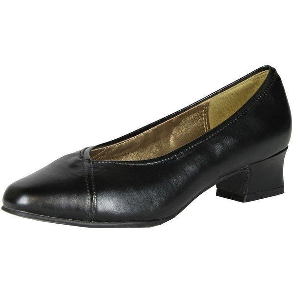 Soft Style Womens Supple Wide Width Pumps Shoes - black. - 8 c/d us
