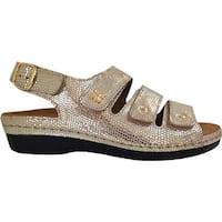 Helle Comfort Women's Taki Sandal Gold Leather