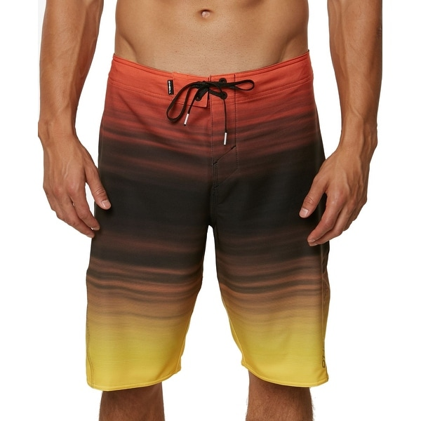 8f07892321 Shop O'Neill Orange Mens Size 34 Striped Ombre Board Surf Shorts - On Sale  - Free Shipping On Orders Over $45 - Overstock - 26915529