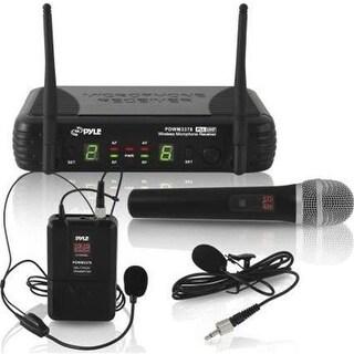 Pyle PDWM3378 UHF Wireless Microphone System Kit