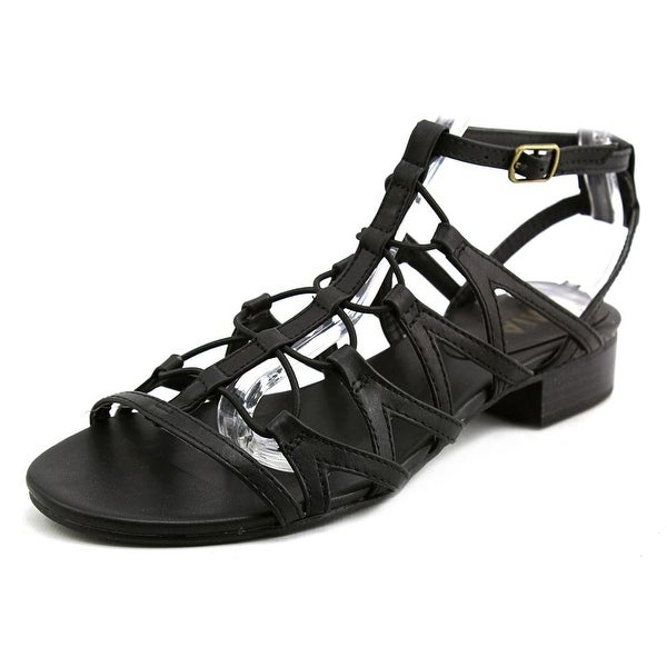Mia Chariot Women Open Toe Synthetic Black Gladiator Sandal