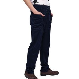 Men Drawstring Stretchy Waist Design Sports Casual Pants