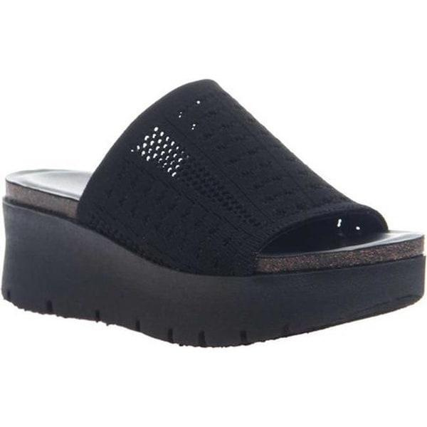 Shop Otbt Women S Gravity Wedge Slide Black Textile Free
