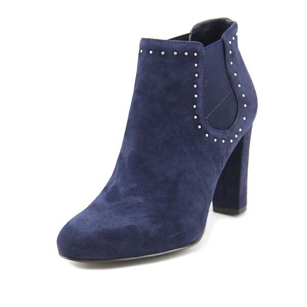 Lauren Ralph Lauren Vivianne Women Pointed Toe Suede Blue Bootie