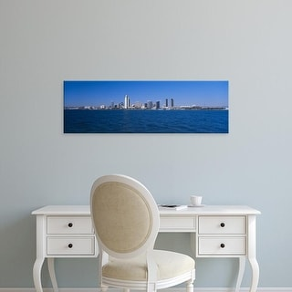 Easy Art Prints Panoramic Images's 'Skyscrapers in a city, San Diego, California, USA' Premium Canvas Art