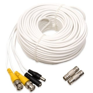 Q-See L28164W Q-See QS100B Video and Power 100-Foot BNC Male Cable with 2 Female Connectors
