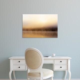 Easy Art Prints Chuck Haney's 'Foggy Sunrise Over Beaver Lake' Premium Canvas Art