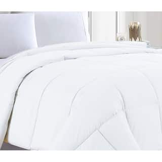 Premium Microfiber Down Alternative Quilted Single Piece Comforter