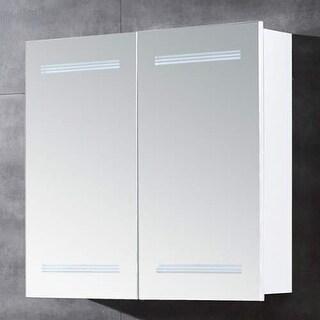 "Miseno MBC2526LED 26""W 25""H Double Door Reversible Hinge Mirrored Medicine Cabin - White"