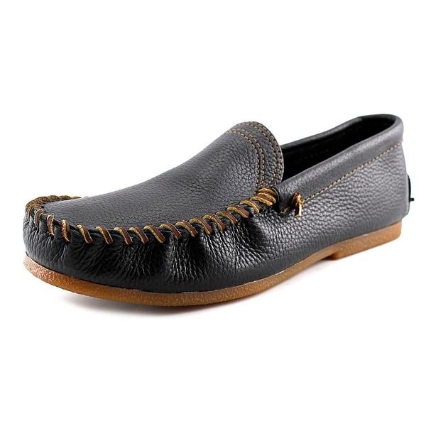 Minnetonka Venetian Men Moc Toe Leather Black Loafer